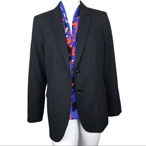 Banana Republic Long Lean Black Plus Work Blazer